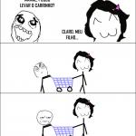 Fazendo compras com a mãe quando pequeno
