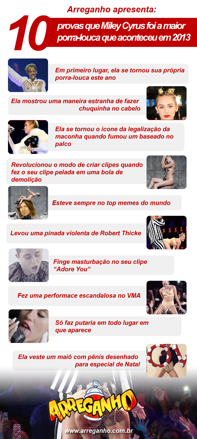 10 provas de que a Miley Cyrus foi a maior porra-louca de 2013