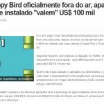 Flappy Bird sai do ar e aparelhos com game instalado valem até US$ 100 mil