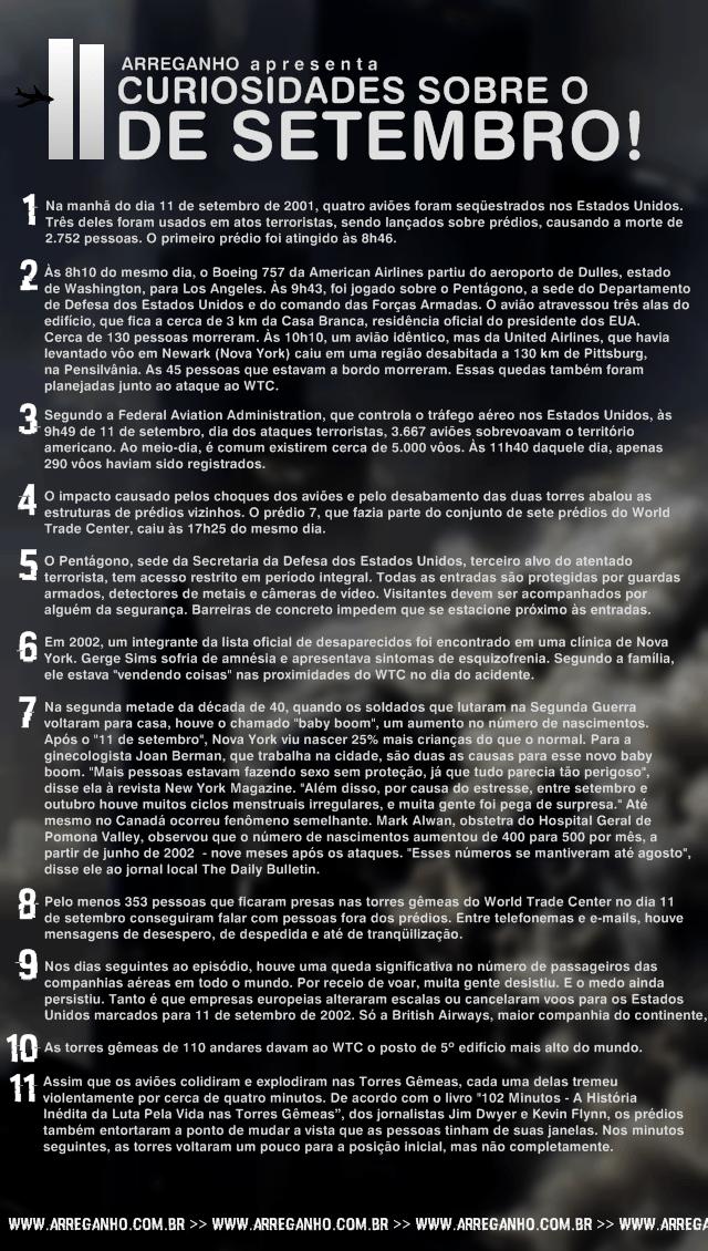 11 Curiosidades sobre o 11 de Setembro!