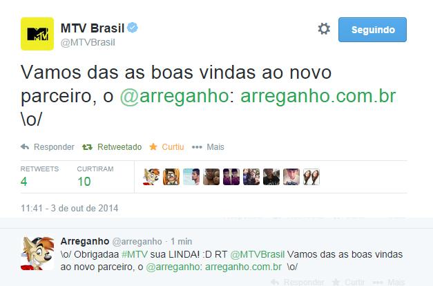 Arreganho agora é MTV!