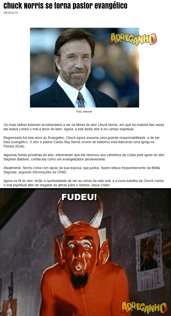 Chuck Norris se torna pastor evangélico