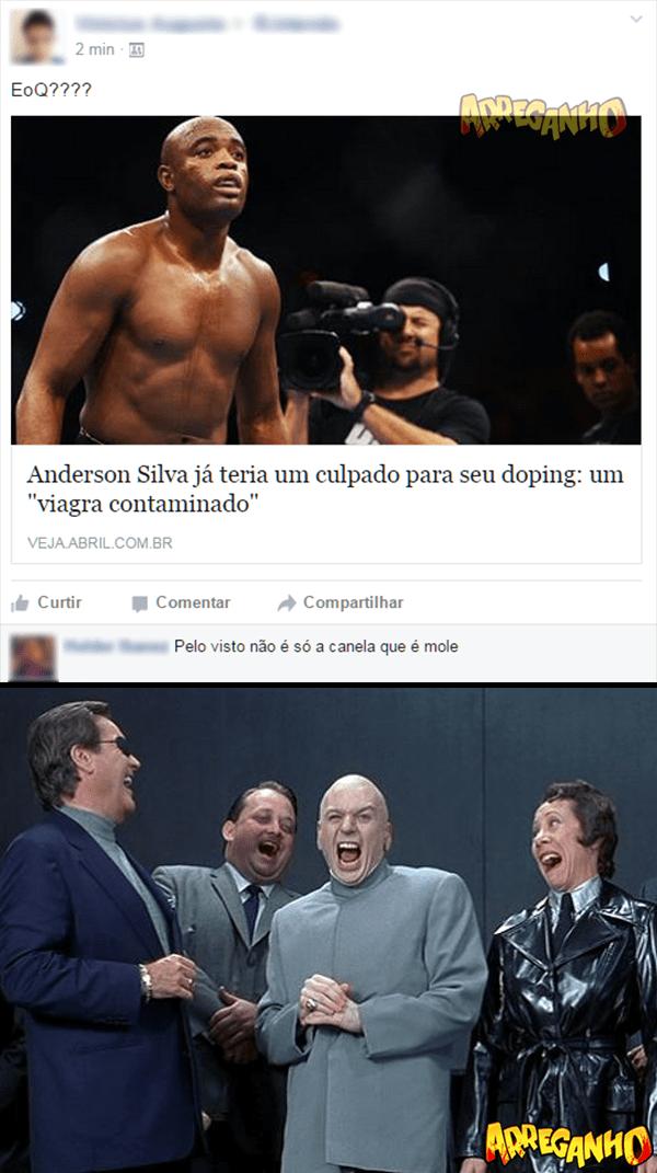 Descoberto o verdadeiro motivo do doping de Anderson Silva