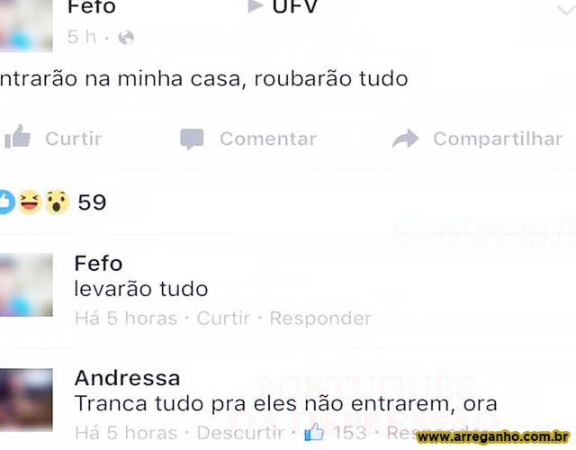 Alguém faltou na aula de português