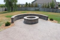 Stamped Concrete Patio With Fire Pit - Fire Pit Ideas