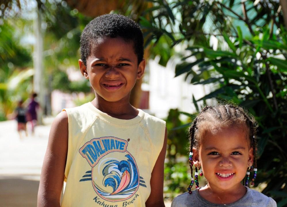 Local children in Placencia, Belize