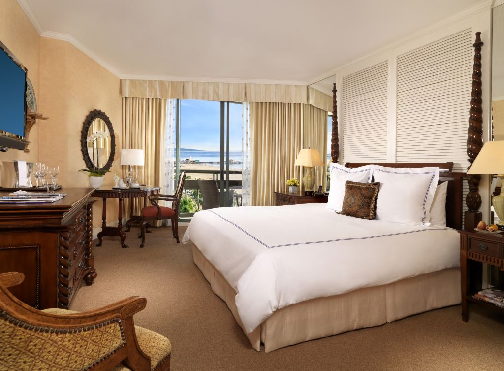 The elegant Fairmont Miramar has spacious suites and bungalows, perfect for families. Credit: Fairmont Hotels