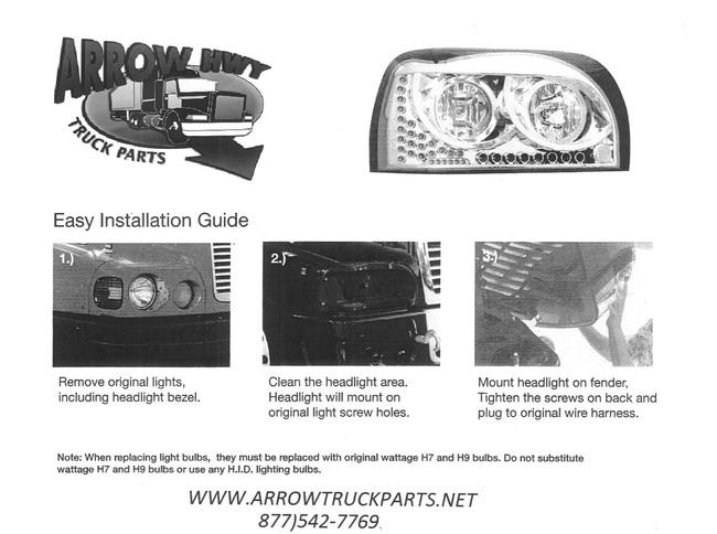 Freightliner Century Class Headlamp Kit