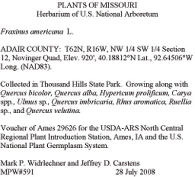 Herbarium Vouchers  USDA ARS - how to make vouchers