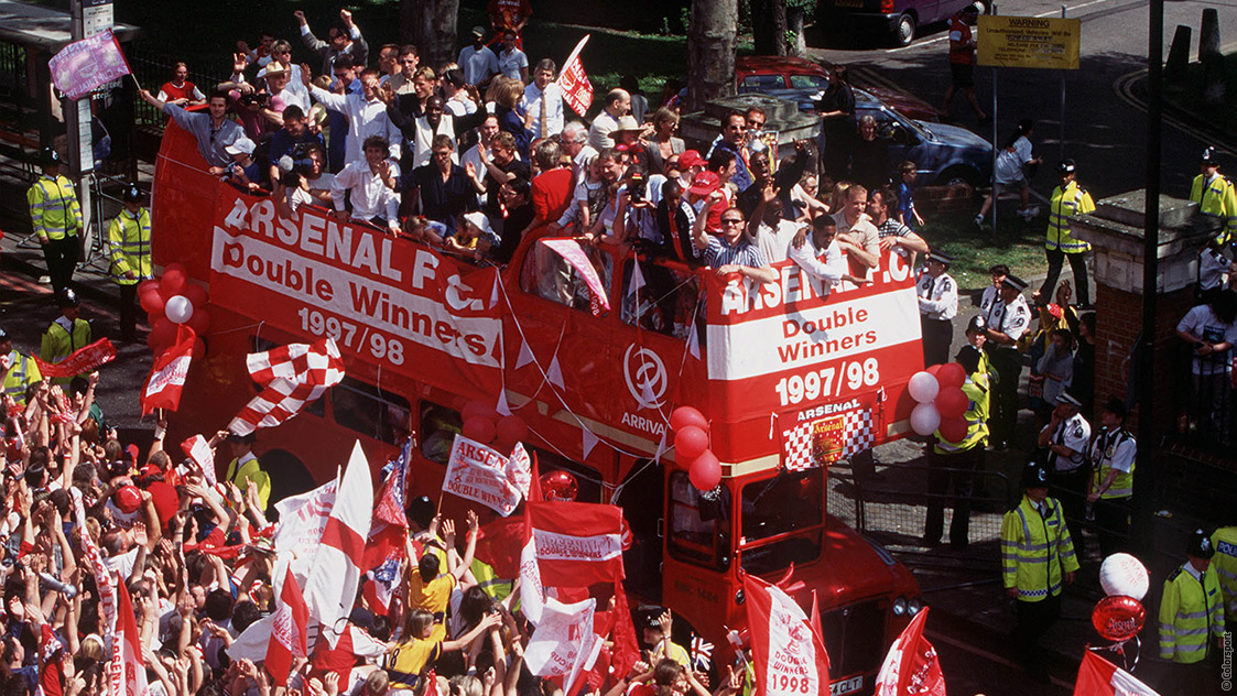 Wenger completes his first Double History News Arsenal