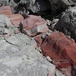 Farbige Schichten im Sedimentgestein