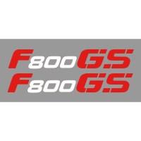 2 aufkleber F800GS -Wei