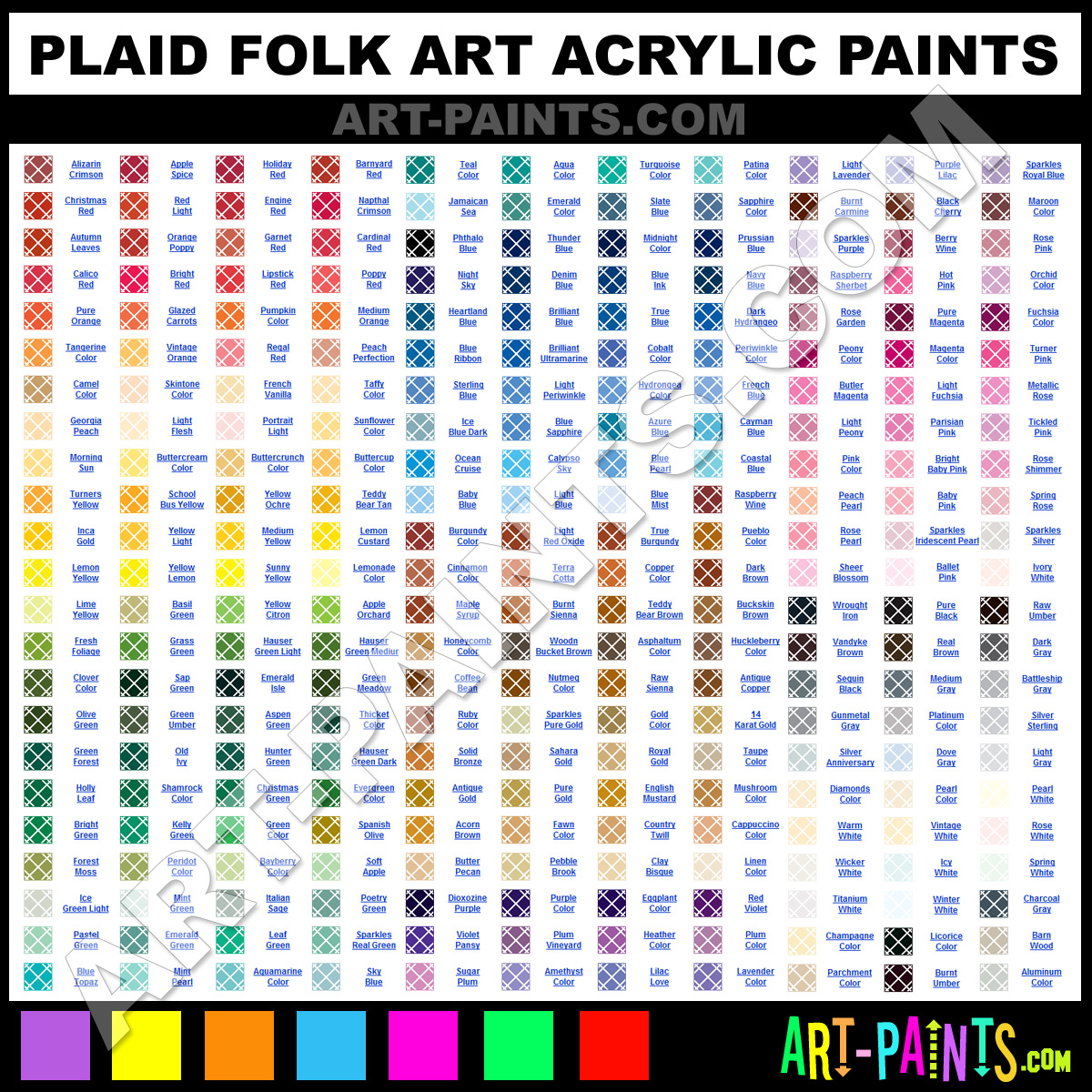 Plaid acrylics plaid folk art paints