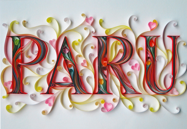 I Letter 3d Wallpapers Stunning Paper Typography By Sabeena Karnik Art Spire
