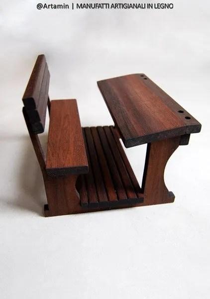 banco scuola in legno fatto a mano - shop Artamin