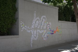 Parisian Street Artist Tags the Asian Art Museum