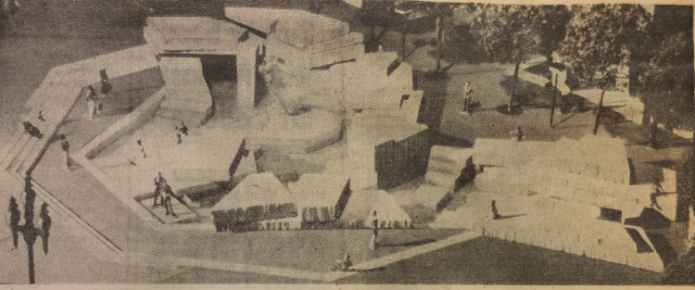 The original design for the UN Fountain submitted to the SFAC