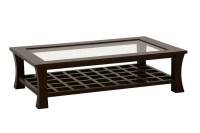 Table basse rectangulaire avec plateau en verre Jorg #5392
