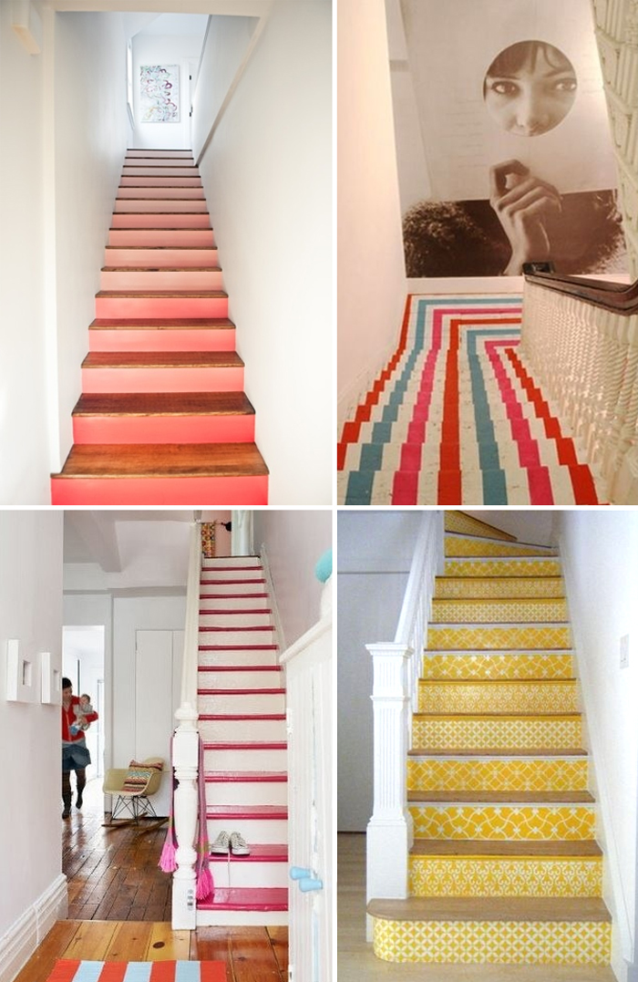 Love painted stairs they make me think of my summer house in my