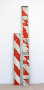 Jeff Feld; Stop and frisk; 2013; Altered wooden barrier