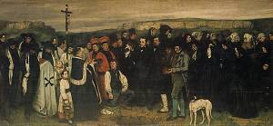 Gustave Courbet, A Burial at Ornans; Between 1849 and 1850, Oil on canvas; 125 x  263 inches