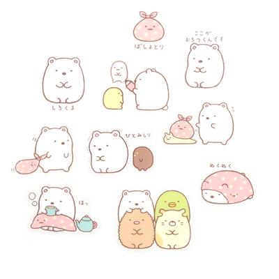 Cute Sushi Wallpaper Buy San X Sumikko Gurashi Clear Seal Shirokuma Sticker