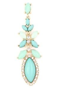 Acrylic Flower Stone Dangle Earring - Earrings