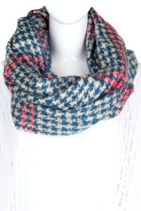 Knitted Pattern Infinity Scarf - Scarves