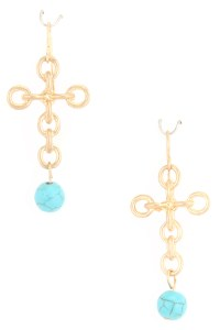 Linked Cross Dangle Earrings