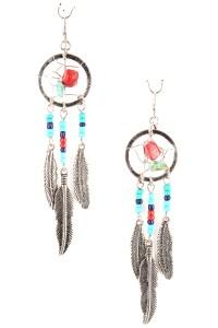Dream Catcher Leaf Earrings
