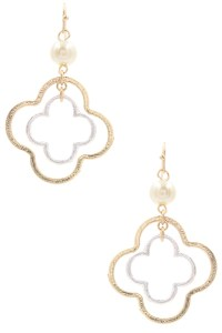 Quatrefoil Dangle Earrings