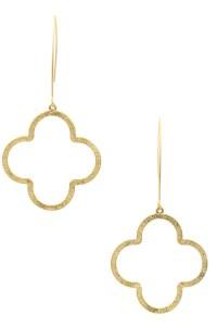 Quatrefoil Dangle Earring - Earrings
