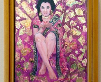 """Anna"" oil and gold leaf on canvas"