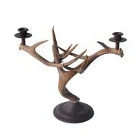 Candle Holder - Whitetail Deer Antler - Art By God Mineral ...