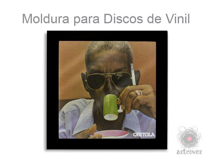 Moldura Para Disco Vinil Preto 03