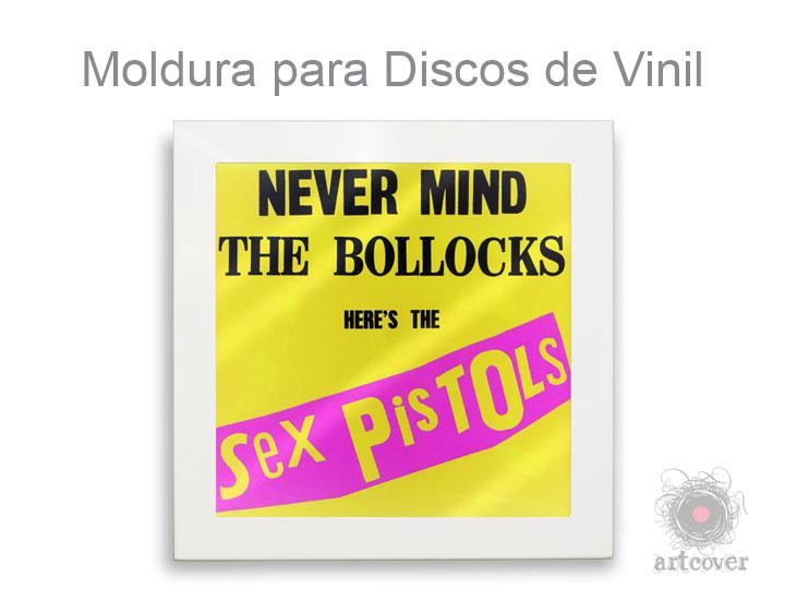Moldura Para Disco de Vinil Branco 04