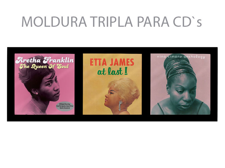 Moldura Tripla Para CD`s 04