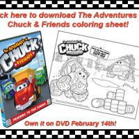 The Adventures of Chuck and Friends Coloring Sheet