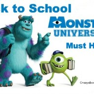 Monsters University Back to School Must Haves #MonstersUPremiere