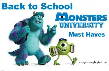 Monsters University Back to School Must Haves #MonstersUPremiere #BacktoSchool