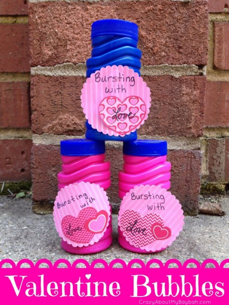 Bursting with Love Valentine Bubbles | Candy Free Valentines for Kids