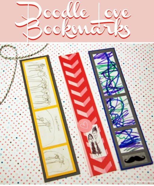 Valentines Day Craft for Kids - Doodle Bookmarks