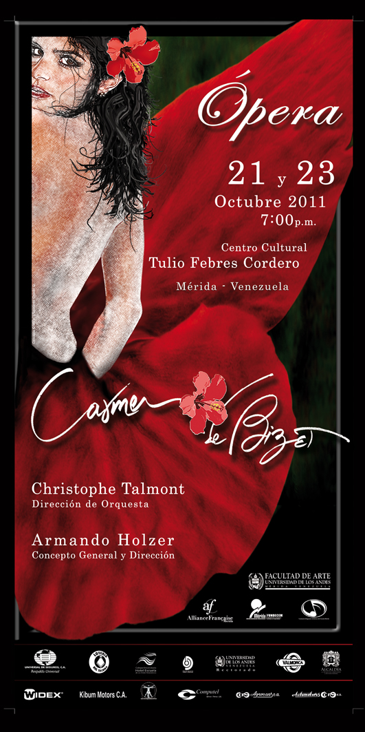 Carmen, Georges Bizet Opera Posters Pinterest - party flyer