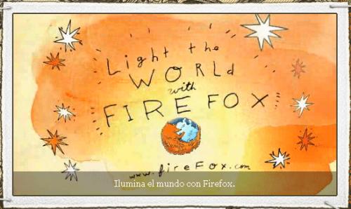 Ilumina el mundo con FireFox