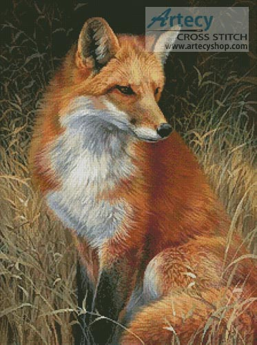 Beautiful Fall Paintings Wallpapers Artecy Cross Stitch Red Fox Painting Cross Stitch Pattern