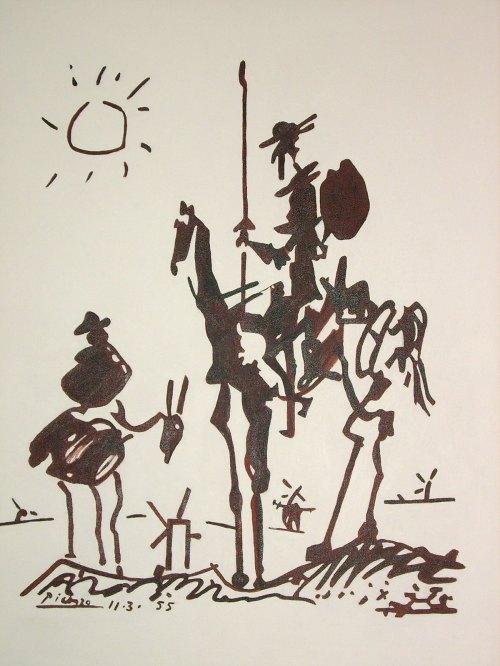 Medium Of Picasso Don Quixote