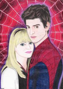gwen_and_peter_by_andrecamilo18-d4ergkz