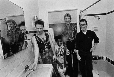 The Dead Kennedys in a Bathroom