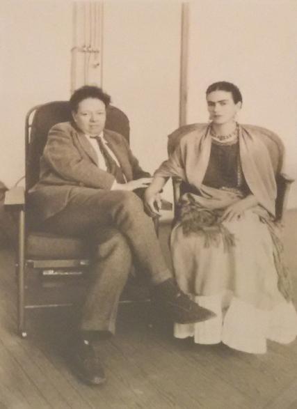 Frida Kahlo & Diego Rivera no dia do casamento - 1929
