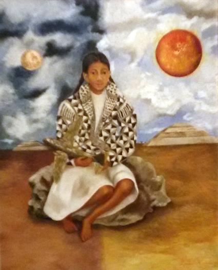 Frida Kahlo - Menina tehuacana, Lucha Maria (Sol e Lua), 1942